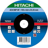 Диск для зачистки металла 125х6,0х22,2  Hitachi/hikoki 752552, фото 1