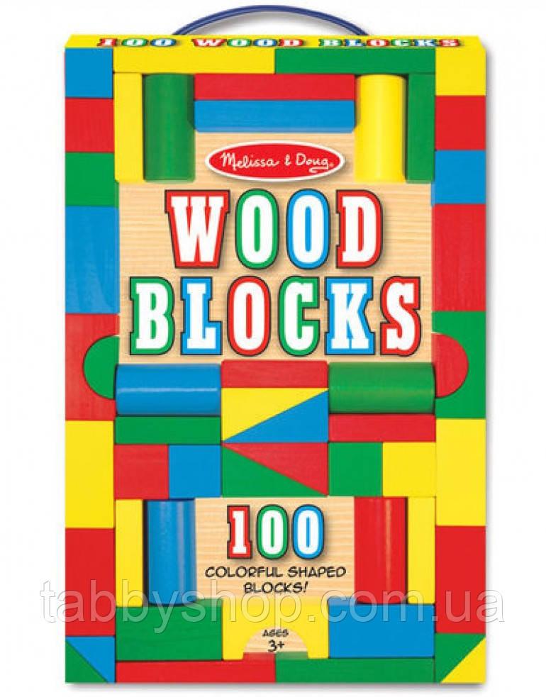 100 деревянных кубиков Melissa & Doug
