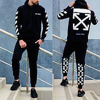 Мужской спортивный костюм Off-White (Офф-Вайт) черный