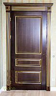 Межкомнатная дверь ясень, цвет Людовик с золотой патиной. , фото 1