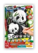 Картина раскраска по номерам на картонке маленькая DankoToys 30х20 см