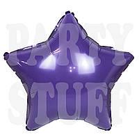Воздушный шар звезда фиолетовая, 44*48 см