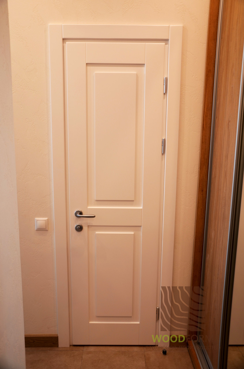 Двери Сосна, цвет Белый матовый