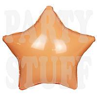 Воздушный шар звезда персик, 44*48 см