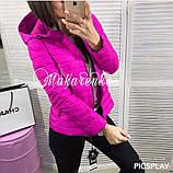 Женская куртка плащевка на синтепоне, много разных цветов!, фото 7