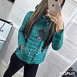 Женская куртка плащевка на синтепоне, много разных цветов!, фото 2
