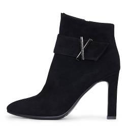 Стильные демисезонные замшевые женские ботинки на шпильке A-Vani