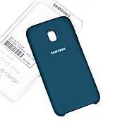 Силиконовый чехол на Samsung J3 2018 Soft-touch Forest Green