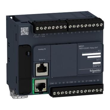 Контролер Modicon M221 14DI/10RO+2AI (0-10В) RS485 + Ethernet TM221CE24R