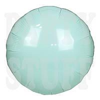 Фольгированный шар 18' Китай Круг мятный, 45 см