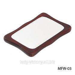 Дзеркало косметичне на дерев'яній основі. MFW-03
