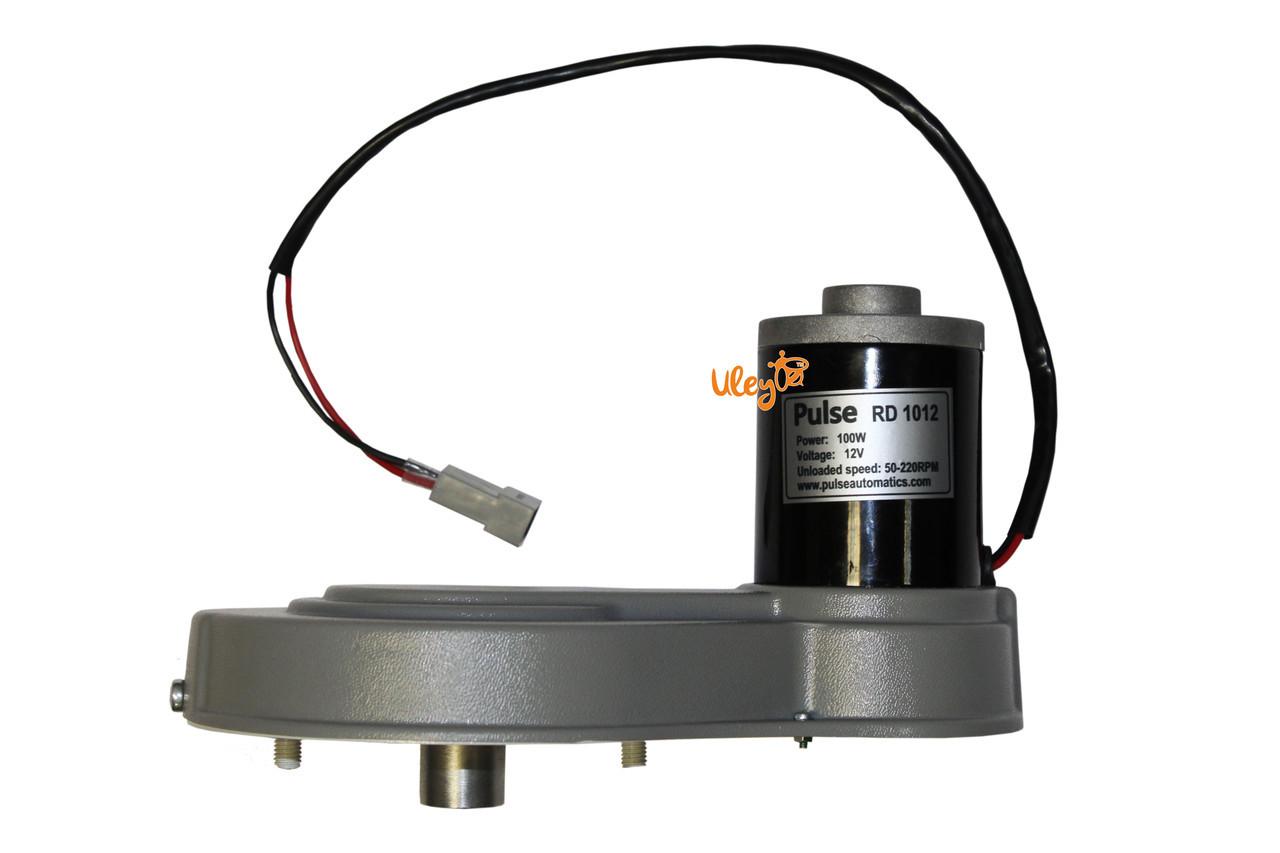 Привод медогонки электрический, горизонтальный напряжение 12 В «Евро»(алюминиевый корпус редуктора)