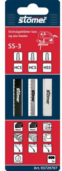Набор пилок для лобзика Stomer SS-3, фото 1