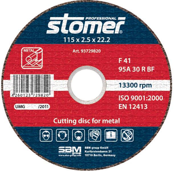 Диск отрезной по металлу 115х2,5х22,2 Stomer