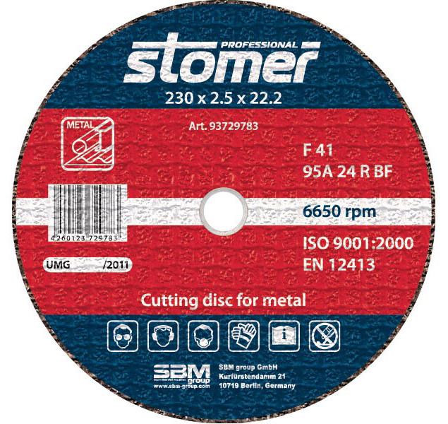 Диск отрезной по металлу 230х2,5х22,2 Stomer