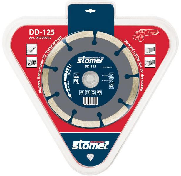 Диск алмазный сегмент 125х22,2 Stomer DD-125