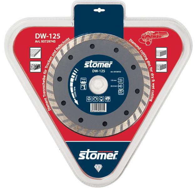 Диск алмазный 125х22,2 Stomer DW-125