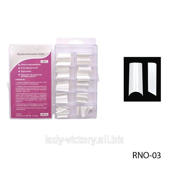 Белые прямые типсы. RNO-03