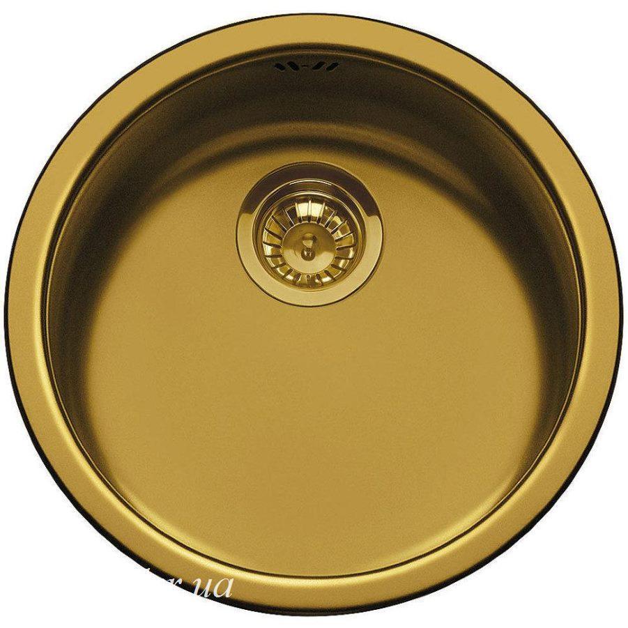 Мийка з нержавіючої сталі з PVD-покриттям Smeg 10I3POT колір латунний