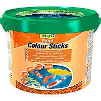 Tetra Pond Colour Sticks корм для усиления окраса рыб в палочках, 10 л