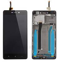 Дисплей для Xiaomi Redmi 3/3 Pro/Redmi 3s/3s Prime/Redmi 3x + touchscreen, черный, с передней панелью Высокое качество