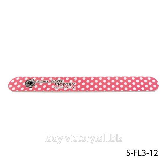 Прямая пилка для натуральных ногтей. S-FL3-12