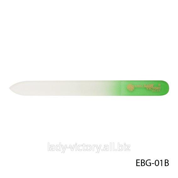 Стеклянная двухсторонняя пилки для натуральных ногтей. EBG-01B