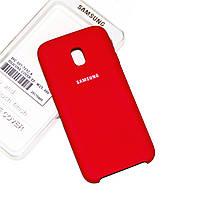 Силиконовый чехол на Samsung J3 2018 Soft-touch Red