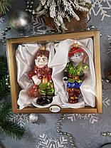 Набор стеклянных елочных игрушек Кот в сапогах и людоед Irena, фото 3