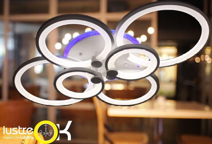 Люстра светодиодная потолочная 8022/6 LED Dimmer Люстра с пультом управления