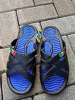 Шлепанцы ПВХ ЭВА мужские синие оптом Даго, фото 1