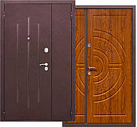 Дверь входные полуторные 120 см, металл/мдф