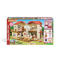 Calico Critters Red Roof Country Home Сильваниан фемелис дом с зайцами и мебелью