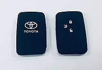 Силиконовый чехол на смарт ключ Toyota тип2 чёрный