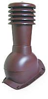 Вентвыход с колпаком Kronoplast KBX для металлочерепицы очень высокий профиль волна до 45 мм. Красный