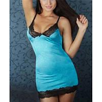Кружевная ночная сорочка синего цвета Annу