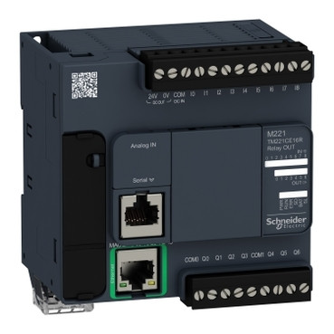Контролер Modicon M221 9DI/7RO+2AI (0-10В) RS485 + Ethernet TM221CE16R