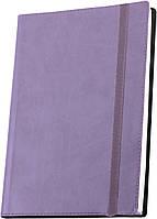 Деловая записная книжка А5 с резинкой , Vivella ,цвет обложки - сиреневый