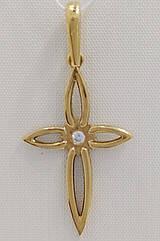 Подвеска золотая с бриллиантами П.ЮВ04-бр