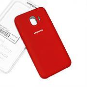 Cиликоновый чехол на Samsung J4 J400 2018 Soft-touch Red