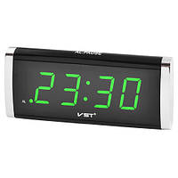 Настольные часы VST 730 с зеленой подсветкой