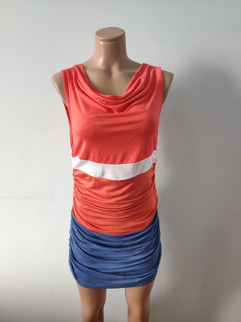 Платье женское летнее, туника модная хлопок FOGLE