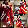 Женский спортивный костюм Puma Размеры с м л хл ххл Цвет: красный, электрик, белый, чёрный. Ткань лакоста , фото 2