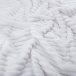 Лоскут плюша в полоску Stripes, цвет белый, размер 100*80 см (есть загрязнение), фото 2