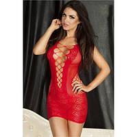 Красное мини платье - сетка кружевное