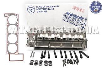 Головка блока цилиндров (ГБЦ 406.3906562) Газель дв.406 с клапанами, прокладкой и крепежом