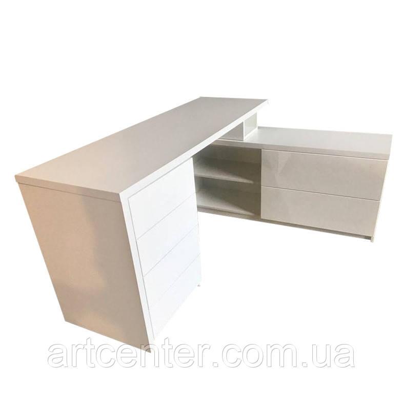 Стол для маникюра с полочками, маникюрный стол большой