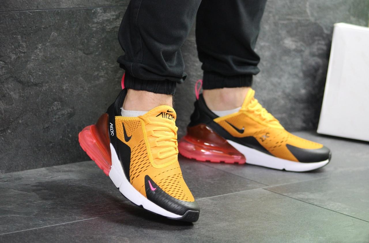 Мужские кроссовки Nike Air Max 270 (Желтые)