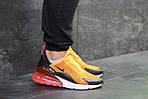 Мужские кроссовки Nike Air Max 270 (Желтые), фото 3