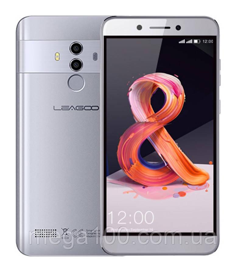 """Смартфон Leagoo T8S серебро (""""5.5 экран, памяти 4/32, батарея 3080 мАч)"""